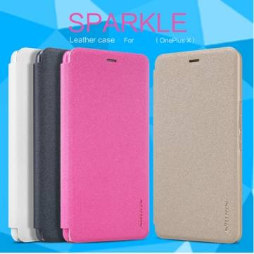 NILLKIN NEW LEATHER CASE-Sparkle Leather Case Cover for OnePlus X
