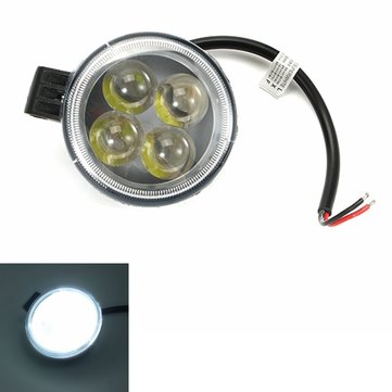 12V 12W Motorcycle 4 Lamps Beads LED Lights Waterproof Headlight For MOTOWOLF MDL-5