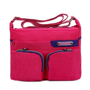 Women Nylon Lightweight Bags Casual Pockets Shoulder Bags Crossbody Bags