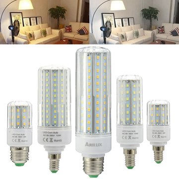 ARILUX® E27 E14 5W 10W 15W 20W SMD2835 No Strobe LED Corn Light Bulb AC85-265V