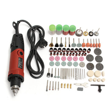 Drillpro 400W 220V Electric Drill Grinder Variable Speed Rotary Tool With 161pcs Accessories