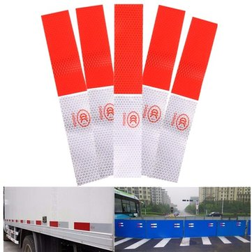 Truck Safety Warning Night Reflective Strip Tape Stickers Decals DIY Red White