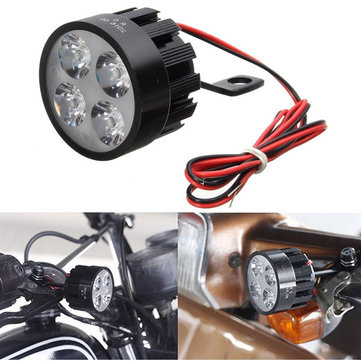 10V-85V DC 12W LED Light Motorcycle Scooter Bicycle Rearview Mirror Lamp Handlebar
