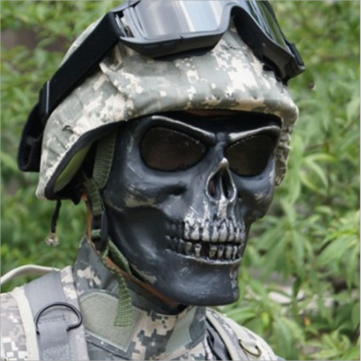 Tactical Skull Skeleton Full Face Security Mask War Game Hunting Costume Party