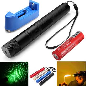 Burning Laser 303 Green Laser Pointer+Light Star Cap 532nm 5mw