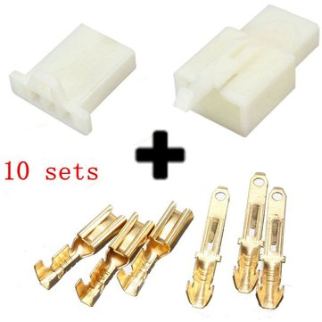 10sets 2.8mm 3 Way Motorcycle Electrical Male Female Connector Terminal Housing