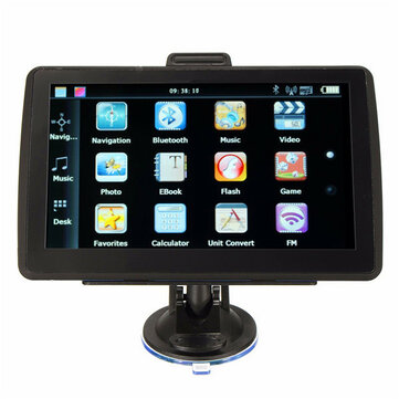 8GB 7 inch TFT Touch Screen Car GPS Navigation SAT NAV FM Free Map Update with Bluetooth Function