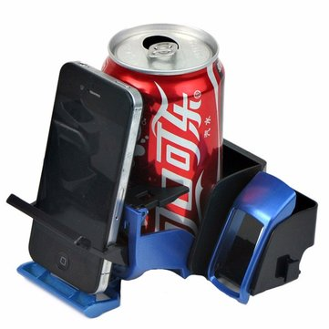 Multifunctional Car Outlet Drink Beverage Holder Sundries Box Cigarette Folding Holder Blue