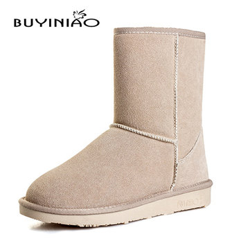 Women Winter Snow Boots Round Toe Colorful Shoes Flat Bottom Keep Warm Boots