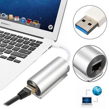 アルミ合金USB 3.0〜RJ45ギガビットイーサネットLANネットワークアダプタ
