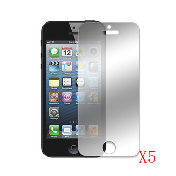 Mirror LCD Front Screen Protector Cover For iPhone 5 5S