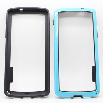 Dual Color PC TPU Bumper Frame Case For LG Nexus 5 E980 D821