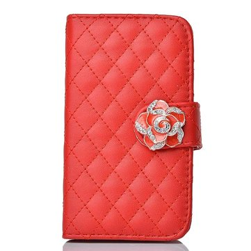 Camellia PU Leather Wallet Case for