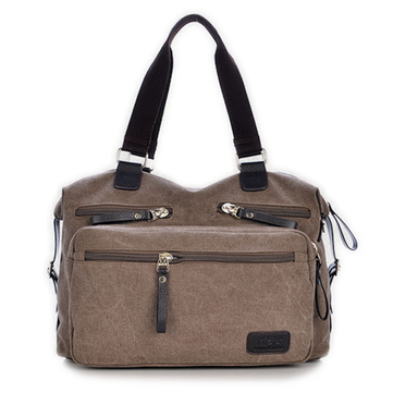 Mens Vintage Canvas Dual-Purpose Handbag Shoulder Crossbody Bag