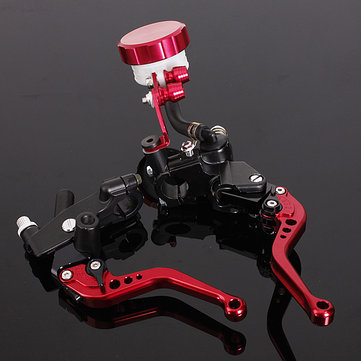 2 X CNC Red Universal Motorcycle Brake Clutch Lever Master Cylinder