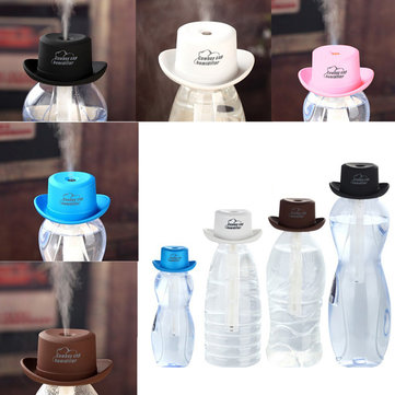 mini cow boy chapeau de chapeau usb humidificateur purificateur d 39 air diffuseur de parfum pour. Black Bedroom Furniture Sets. Home Design Ideas