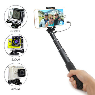 blitzwolf bw bs1 mini extendable wired selfie stick monopod for iphone 6 sam. Black Bedroom Furniture Sets. Home Design Ideas