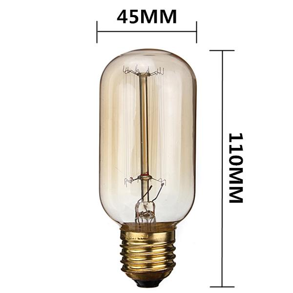 Buy Incandescent Bulb E27 40w Ac 110v T45 Tungsten: E27 40W Vintage Antique Edison Incandescent