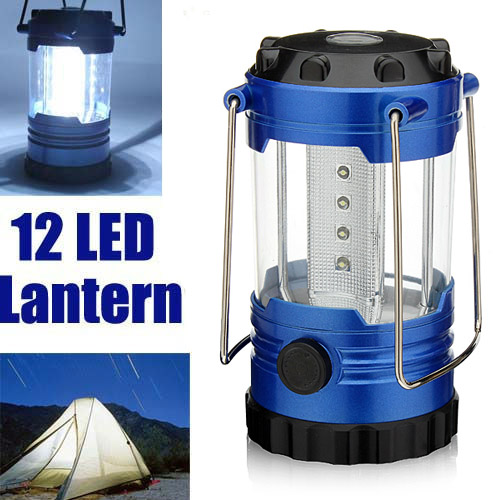 12 LED Portable Camping Hiking Tent Lamp Light Lantern
