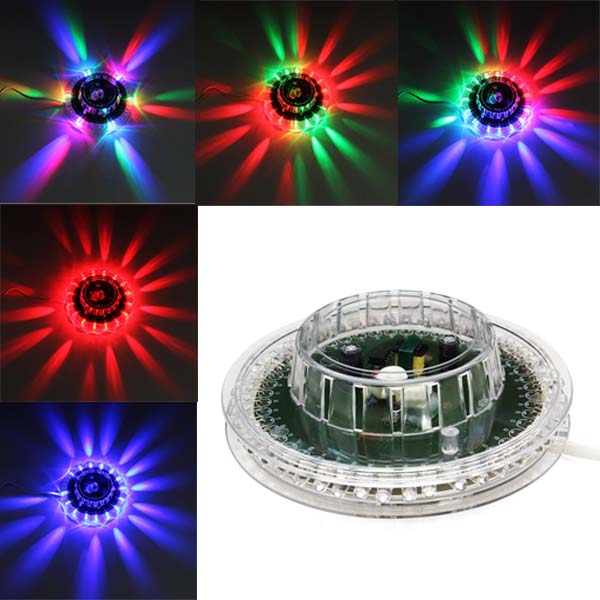 Sunflower LED Sound Activated RGB Stage Light Disco Bar DJ Party