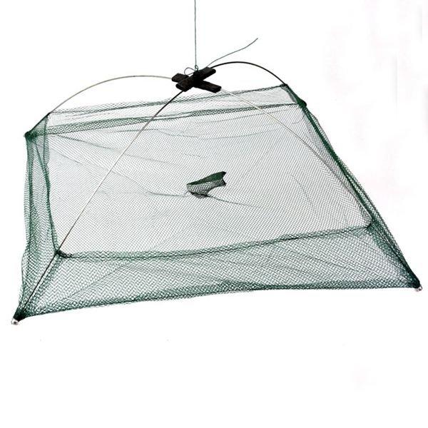 Fishing Foldable Mesh Baits Trap Umbrella Cast Dip Net