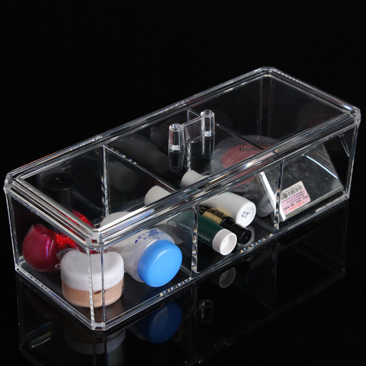 Clear Acrylic Cosmetic Organizer Makeup Storage Contain