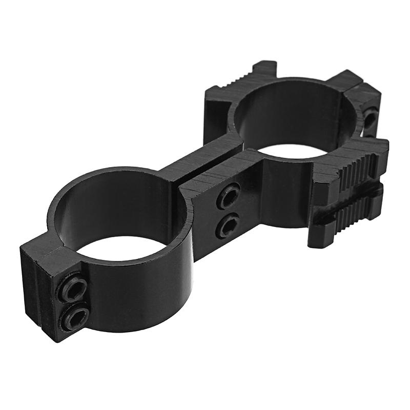 Tactical 25mm Dual Ring Barrel Mount Scope Laser Flashl