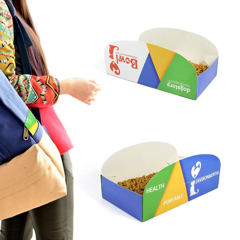 Portable Pets Feeding Bowl Folding Waterproof Travel Pets Feeder Pets Supplies