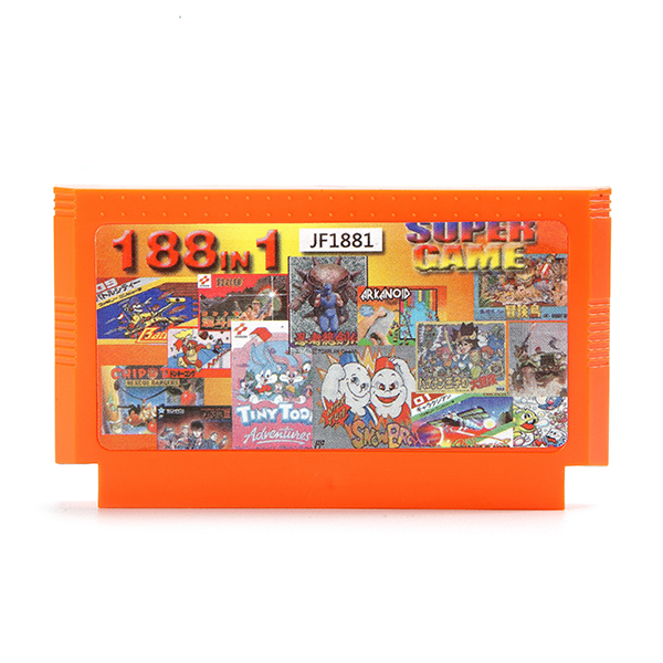 188 in 1 8 Bit Game Cartridge Contra Mario Rockman Adve