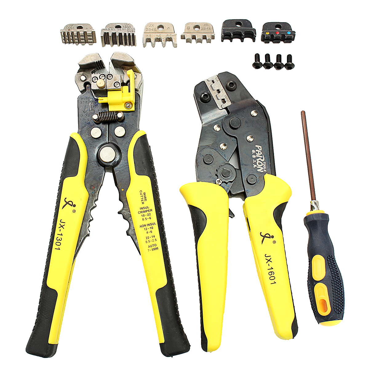 screwdrivers jx d4301 wire crimpers engineering ratcheting terminal crimping pliers tool set. Black Bedroom Furniture Sets. Home Design Ideas
