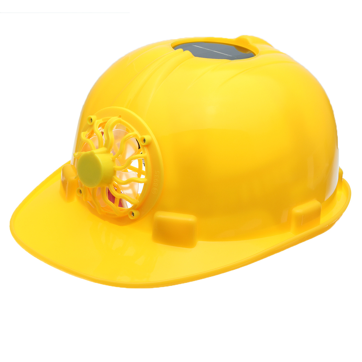 Yellow Solar Power Safety Helmet Work Hard Hat Solar Pa
