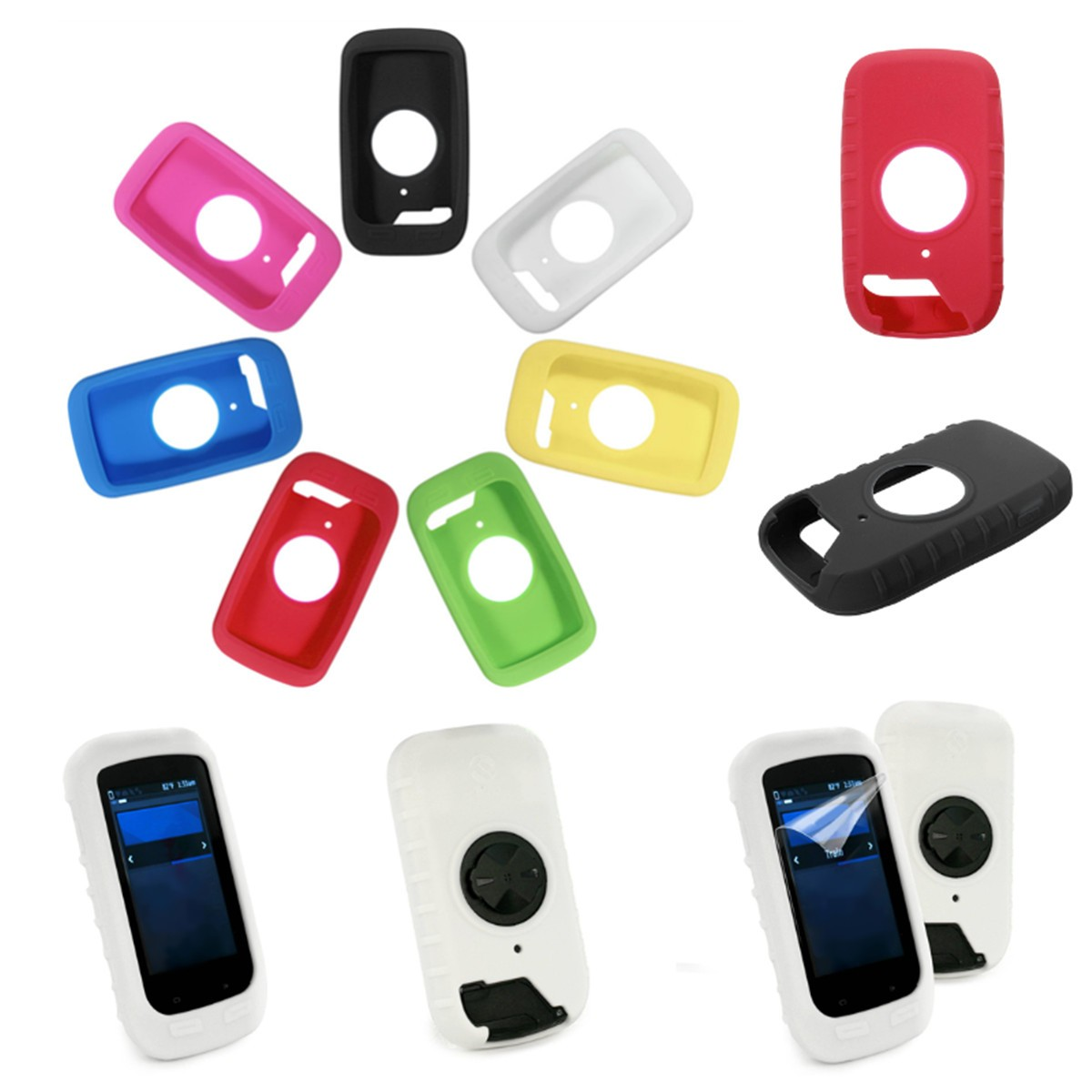 Silicone Gel Skin Case Cover For Garmin Edge 1000 GPS C