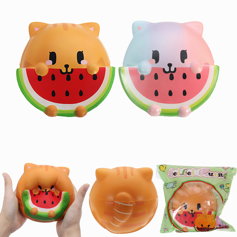 Squishy Ball Cat Serial Code : Other Educational Toys - LeiLei Huang Squishy Lovely Cat Eating Watermelon Jumbo 14cm Slow ...