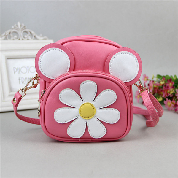 Lovely Cartoon Shoulder Bag Casual PU Crossbody Bag for 3-10 Years Old Children