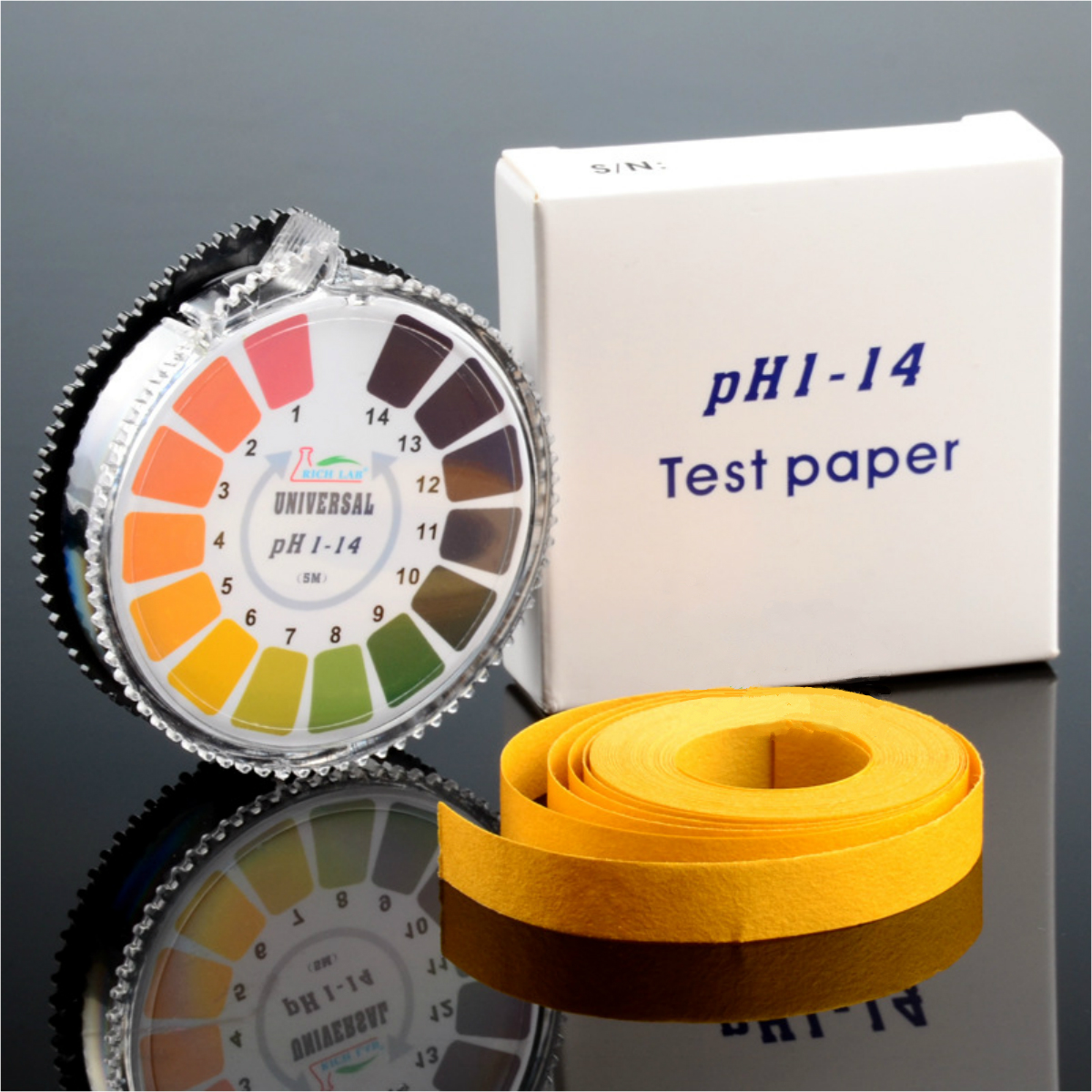 Universal PH Test Strips Roll Range of 1-14/5.5-9.0 Ind