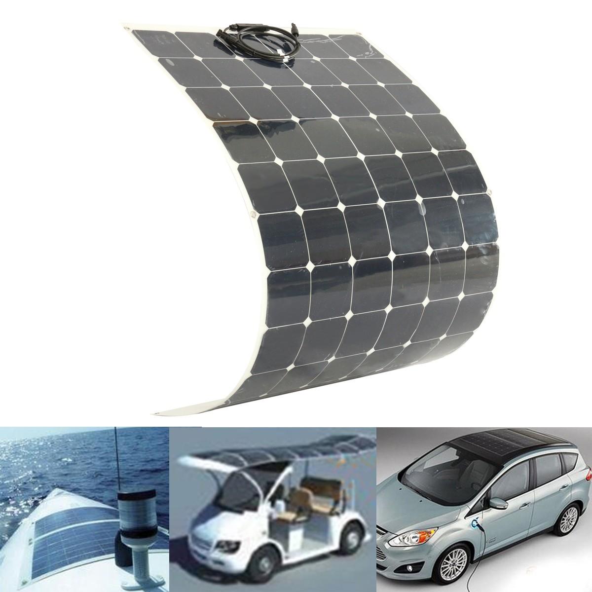 200W 18V Semi Flexible Solar Panel For Battery Charging
