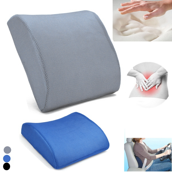 Memory Foam Back Lumbar Support Cushion Travel Cart Office Seat Pillow Fatigue Relief