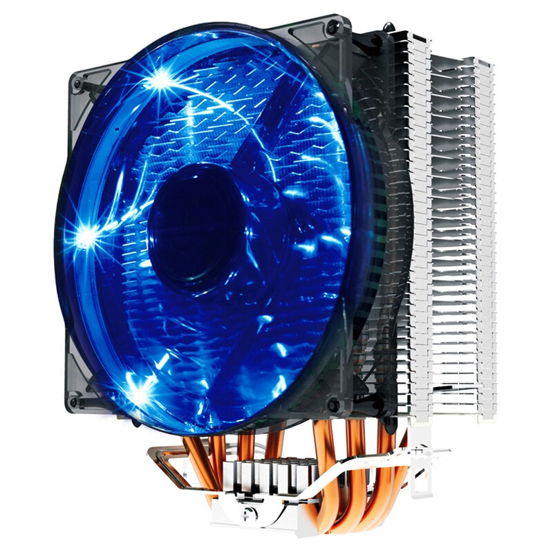 Pccooler Donghai X4 4 Pin 4 Heat Pipes Blue LED CPU Coo