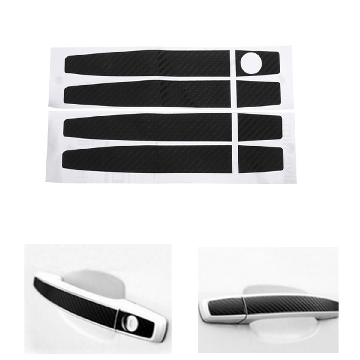 New Carbon Fiber Car Door Handle Cover Sticker Universa