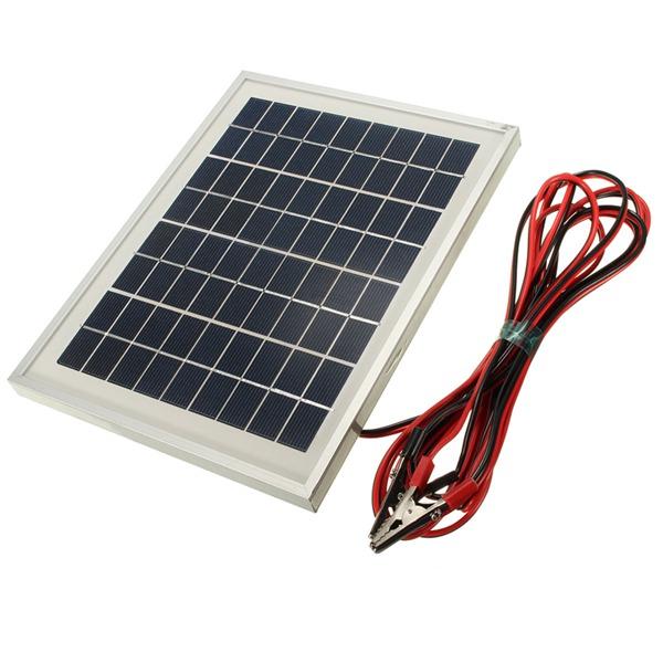 12V 5W 25.5 x 19 x 1.5CM PolyCrystalline Cells Solar Pa