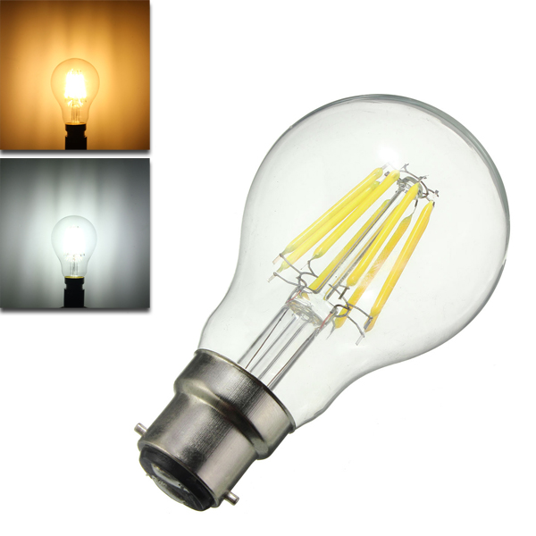 Dimmable A60 B22 8W Pure White Warm White COB Glass Mat