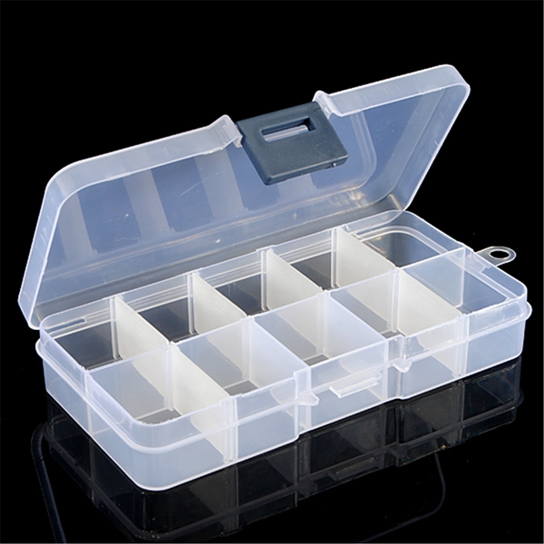 6Pcs Detachable Compartment Empty Storage Case Box 10 C