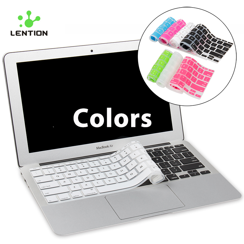 LENTION Ultrathin Waterproof Dustproof Silicone Keyboard Cover for Macbook Air 11 Inch