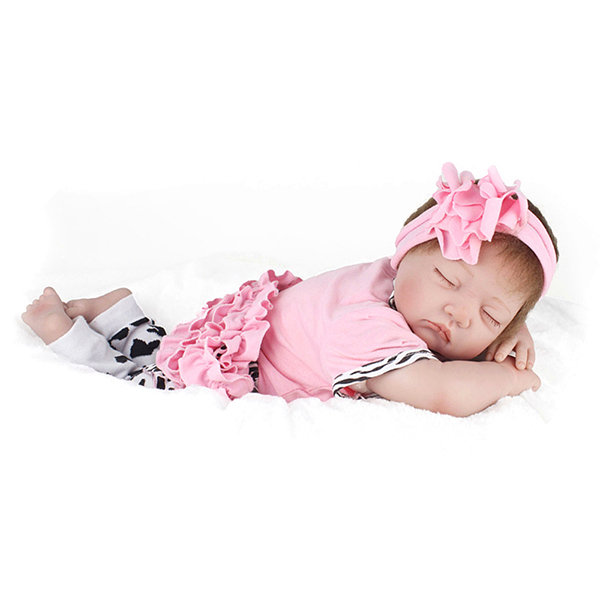 22inch Reborn Baby Doll Handmade Lifelike Girl Play House Toy