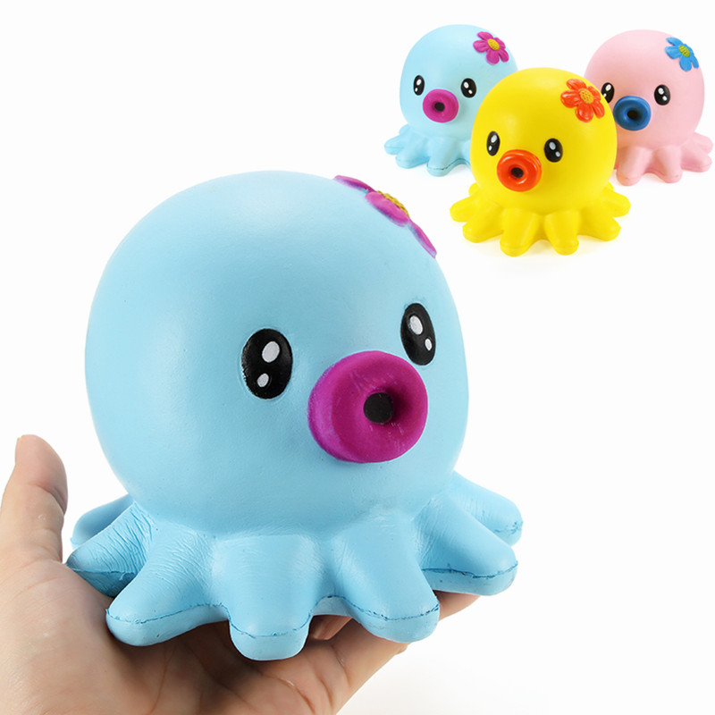Squishy Octopus Jumbo 14cm Slow Rising Collection Gift Decor Soft Squeeze Toy