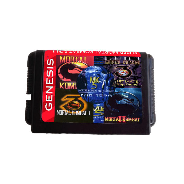 16 Bit Mortal Kombat Serise 5 in 1 Game Cartrige for MD