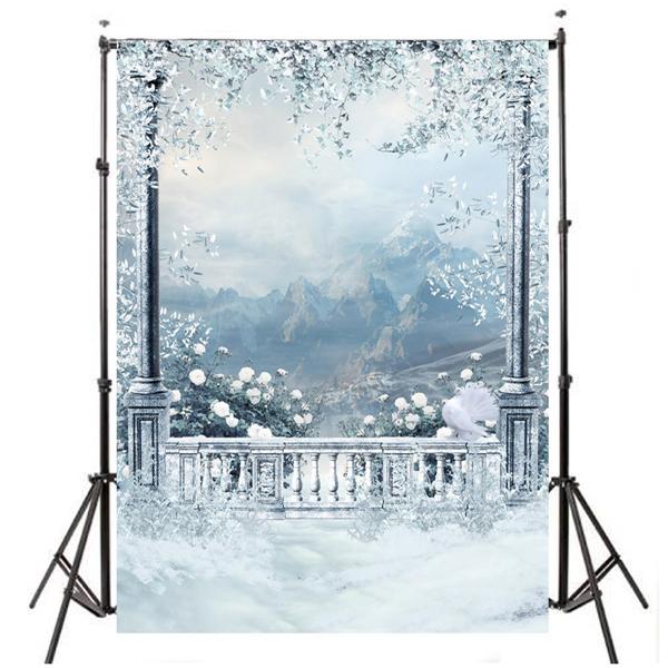 3x5ft 0.9x1.5m Vinyl Outdoor Snow Studio Prop Photograp
