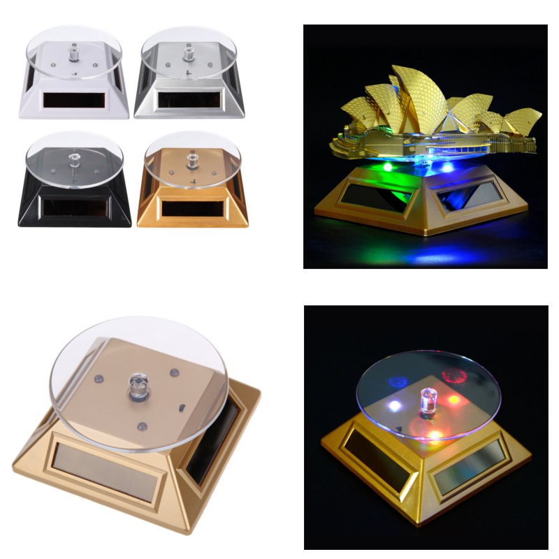 Solar Showcase With LED Lights 360 Turntable Rotating P