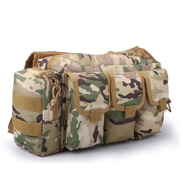 Outdoor Military Camouflage Crossbody Bag Large Capacity Tactical Waist Bag Climbing Travel Bag