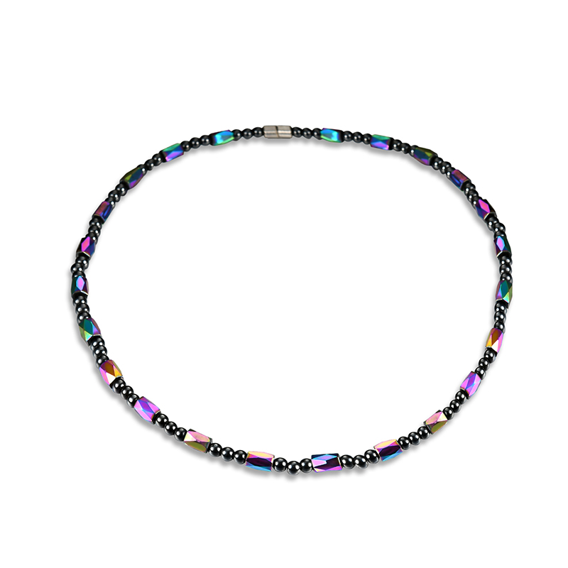 Fashion Colorful Magnet Stone Chain Healthy Healing Jew